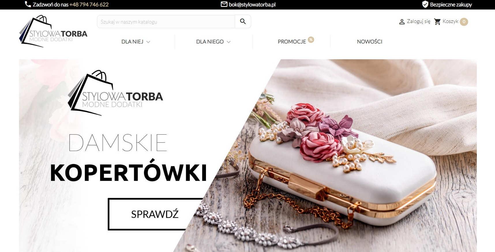Nasz sklep internetowy z modną galanterią StylowaTorba.pl